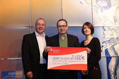 Heino Masemann (links), leitender Pastor im Expowal, Michael J. Schöpf und Anja Karow (Kommunikation und Administration)